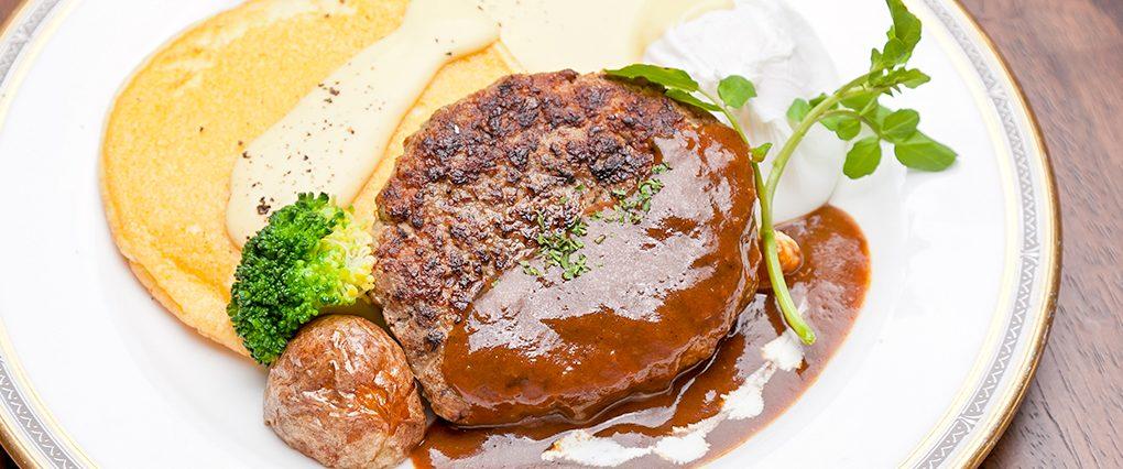 lハンバーグステーキ&パンケーキ